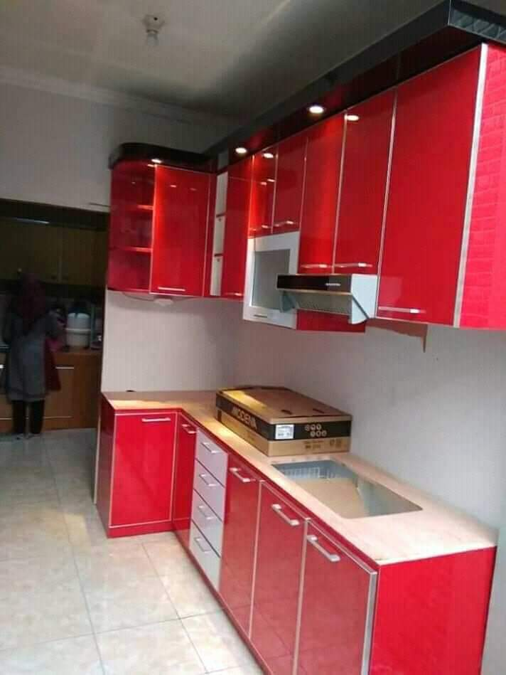Kitchen Set Merah, Kitchen Set Bekasi Murah