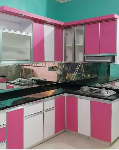 Kitchen Set Pink Putih