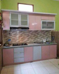 Kitchen Set Pink Putih