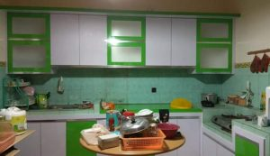 Kitchen Set Hijau Putih