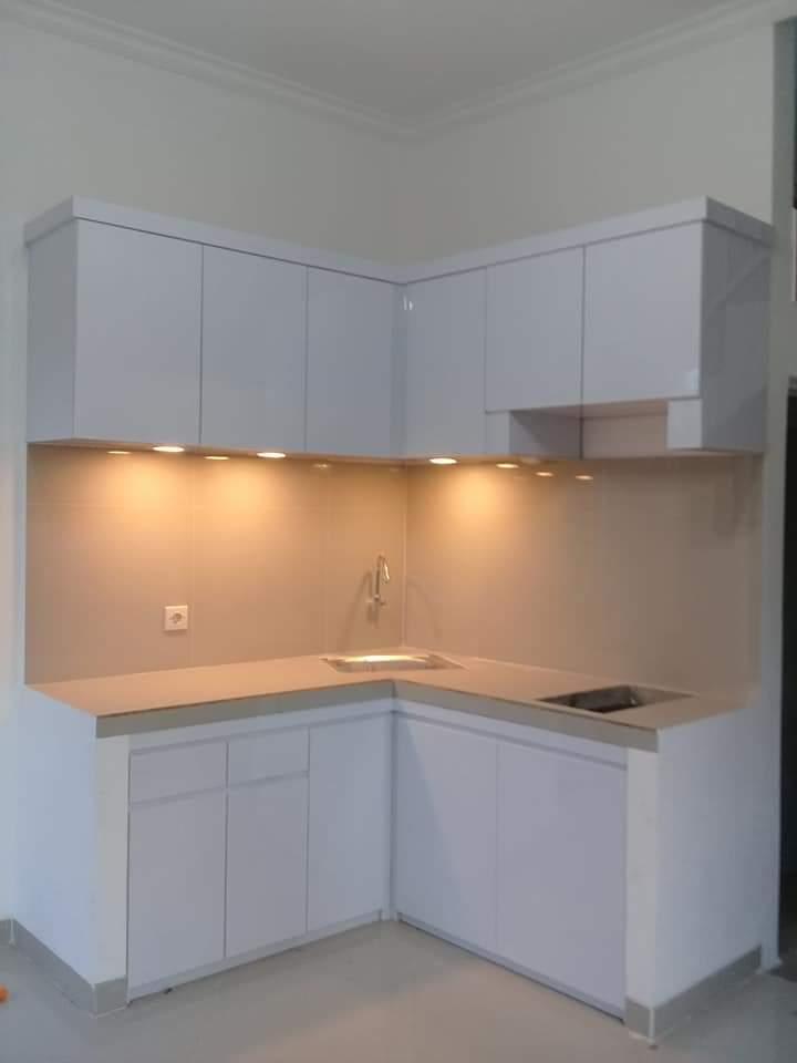 Kitchen Set Putih Minimalis, Jasa Kitchen Set Bekasi